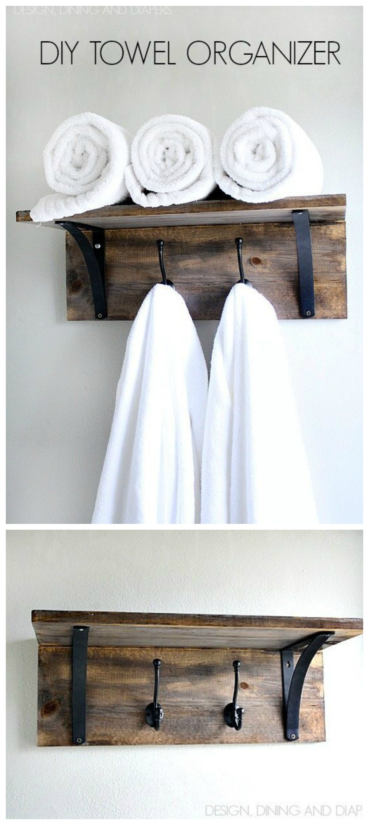 A Collection Of Fabulous Farmhouse Diy Towel Racks The Cottage Market