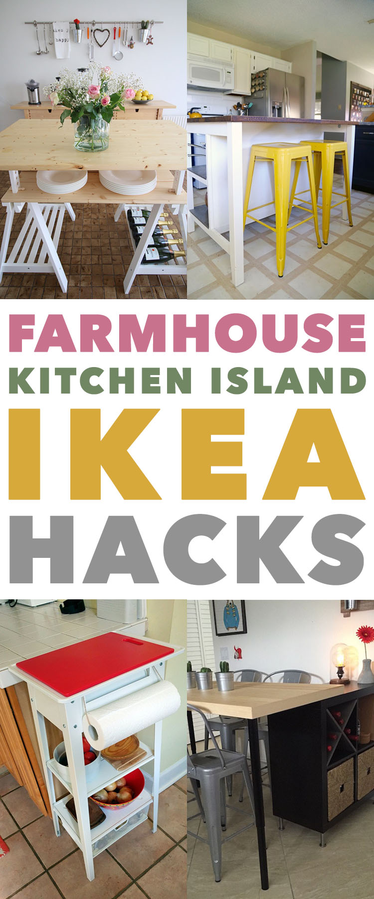 Farmhouse Kitchen Island IKEA Hacks