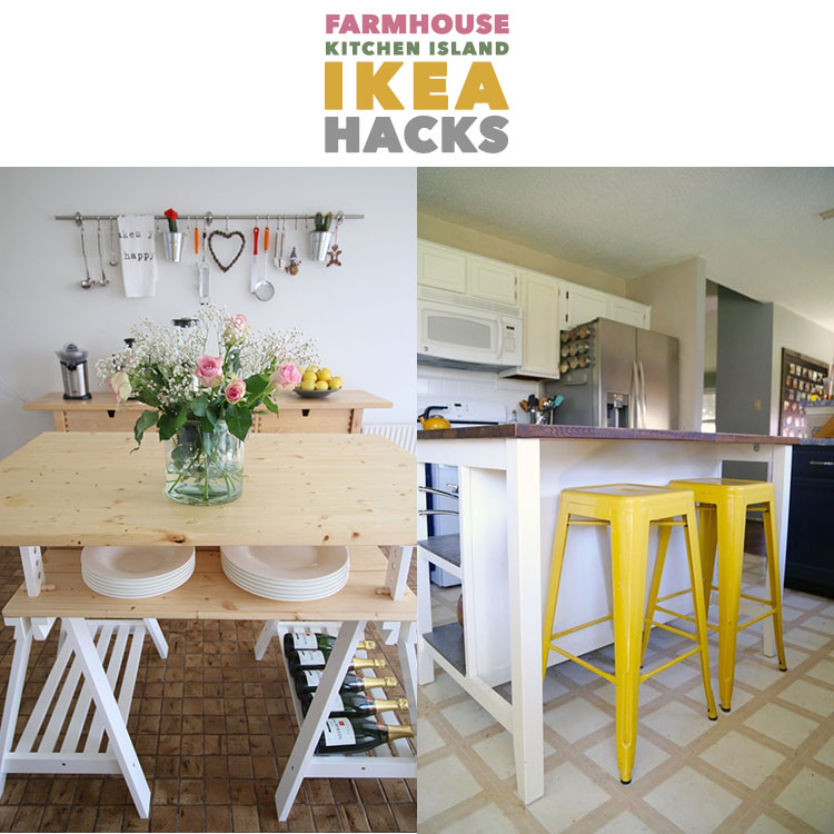 These kitchen island IKEA hacks are inventive and easy.