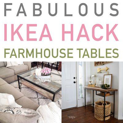 Fabulous IKEA Hack Farmhouse Tables