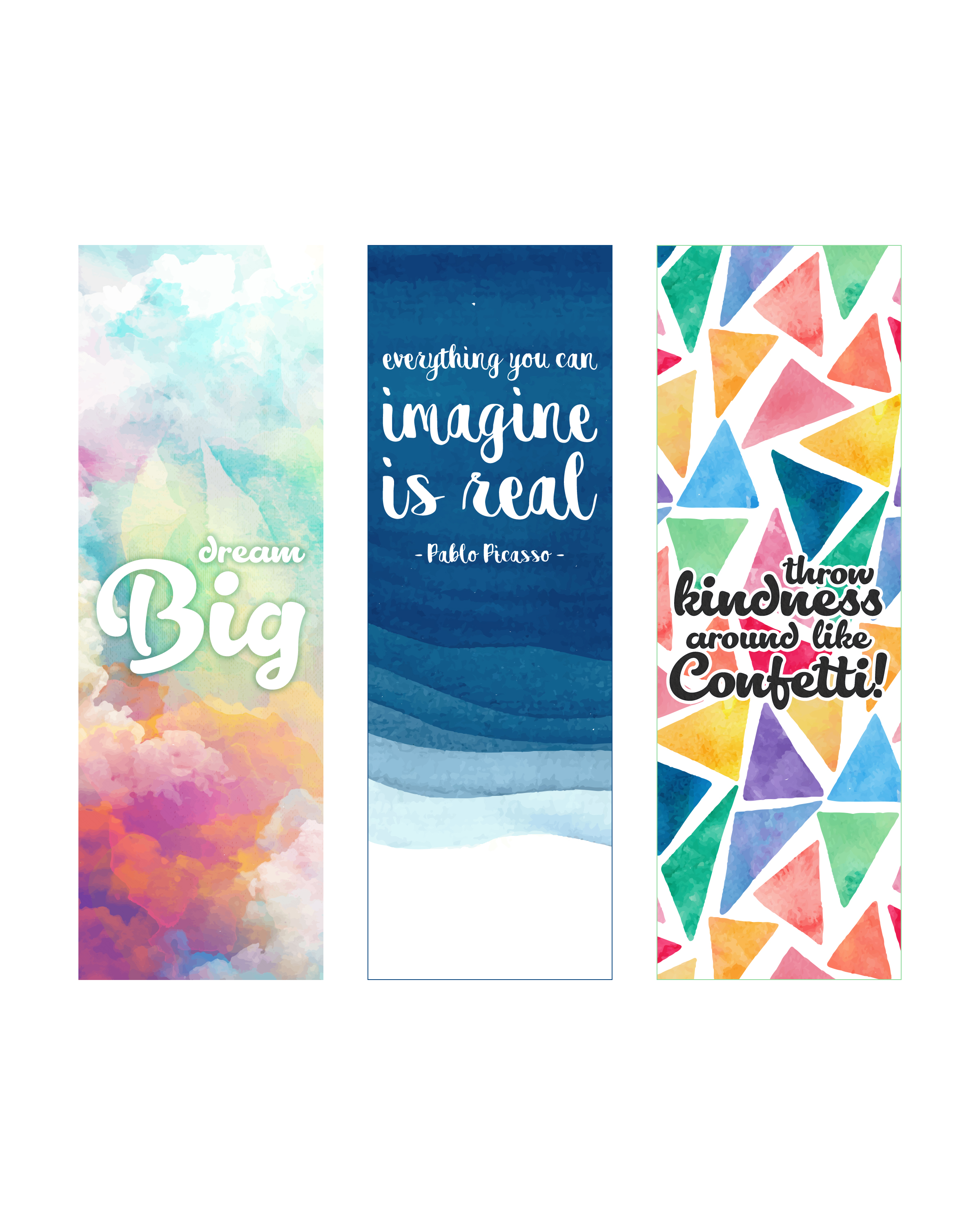 graphic regarding Free Printable Inspirational Bookmarks to Color identified as Free of charge Printable Inspirational Quotation Bookmarks - The Cottage