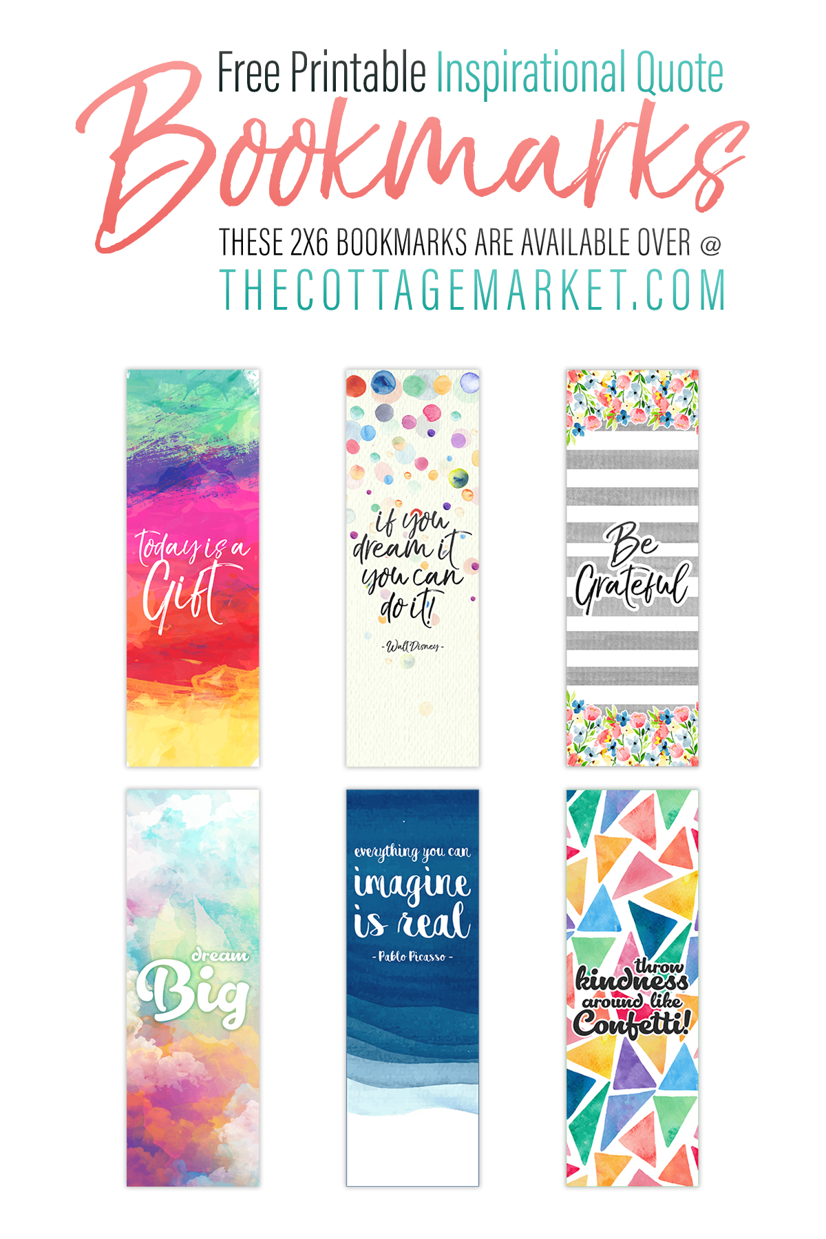 photograph regarding Free Printable Bookmarks With Quotes identify Totally free Printable Inspirational Estimate Bookmarks - The Cottage