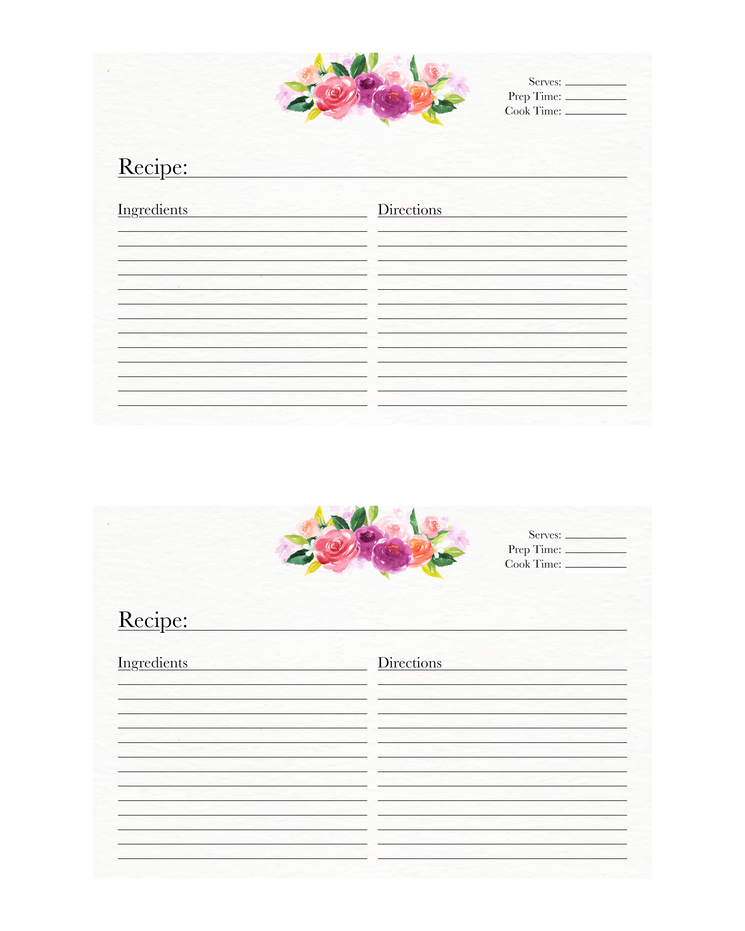 It is a picture of Smart Printable Recipe Card