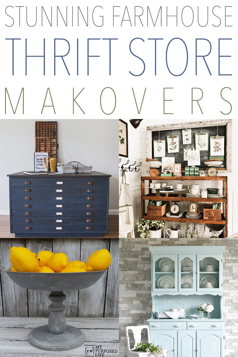 Check out these thrift store makeovers to spruce up your farmhouse.