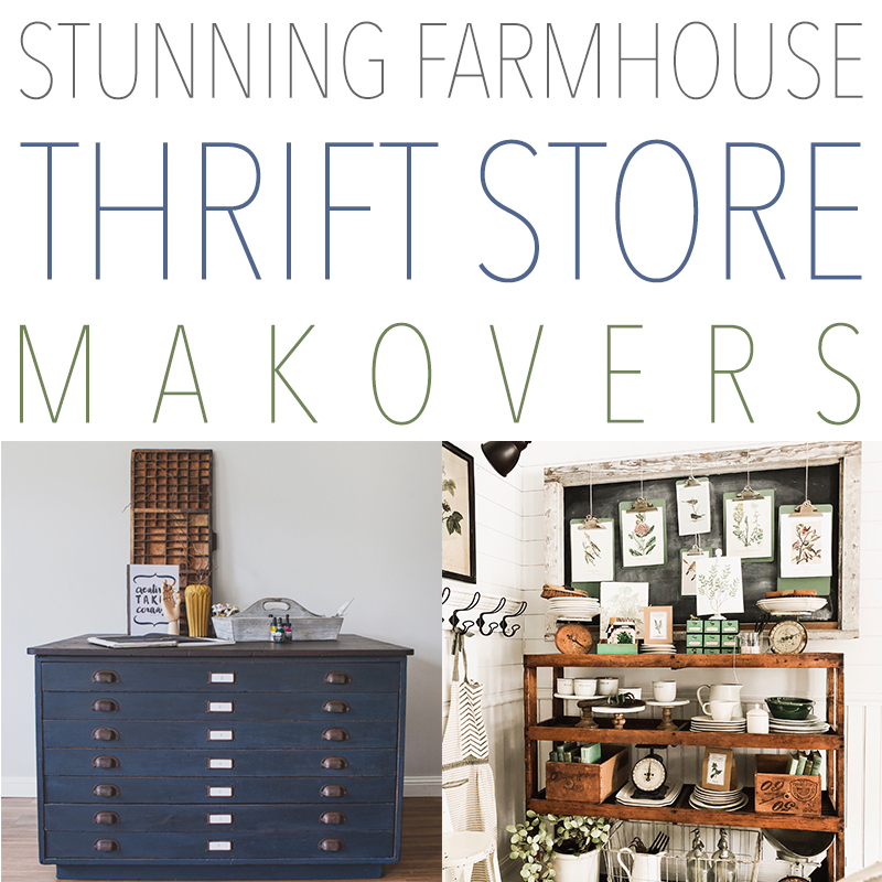 These farmhouse thrift store makeovers are stunning.