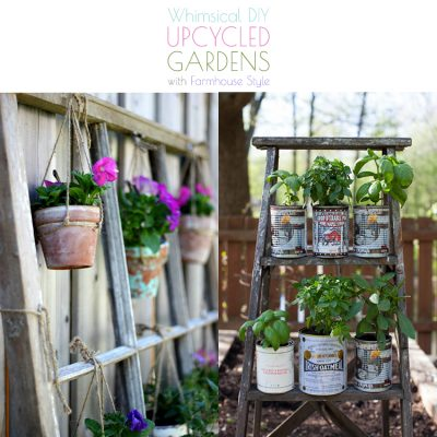 Whimsical DIY Upcycled Gardens with Farmhouse Style