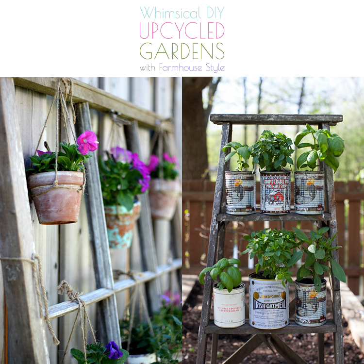 Repurposed And Upcycled Farmhouse Style Diy Projects: Whimsical DIY Upcycled Gardens With Farmhouse Style