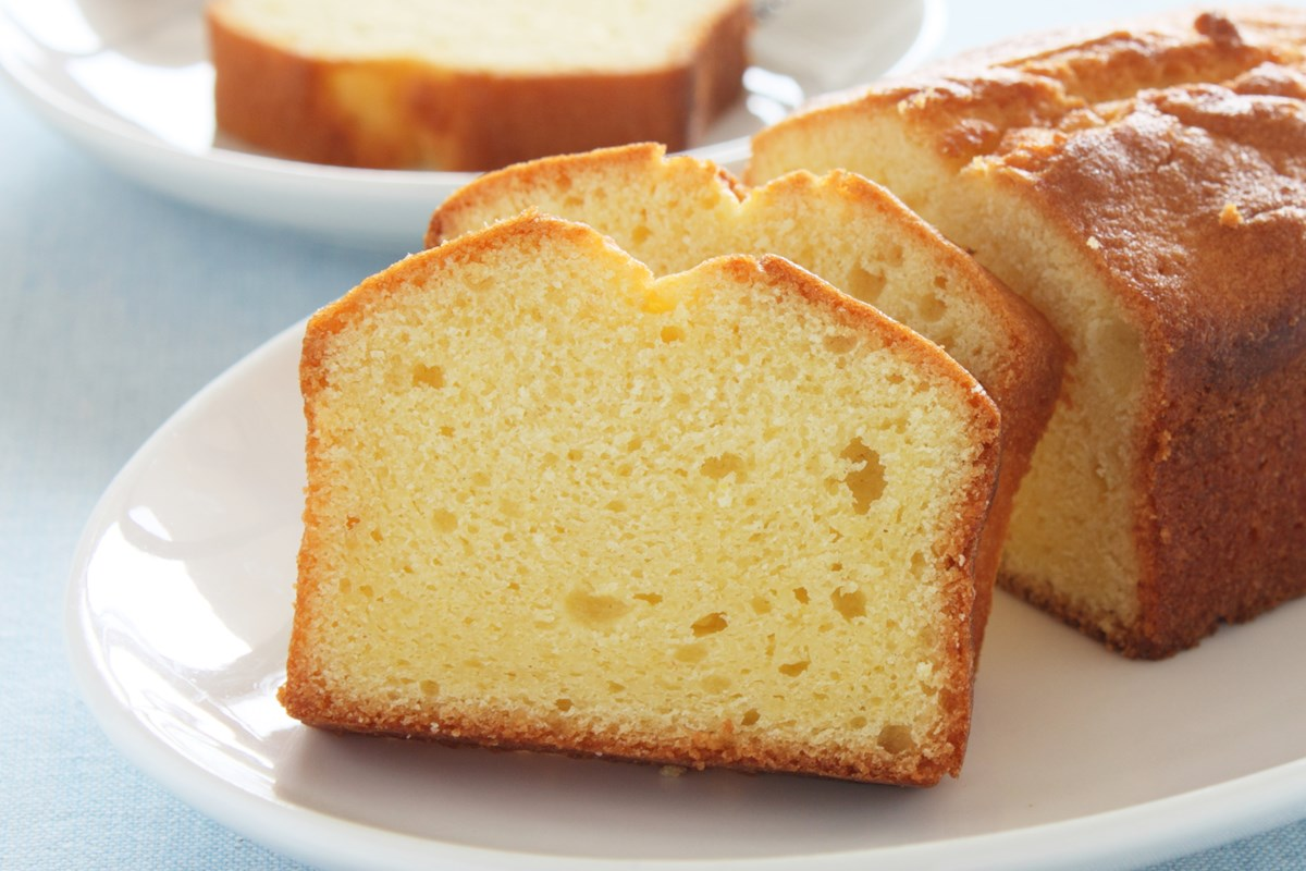 This vanilla cream cheese pound cake is moist and light.