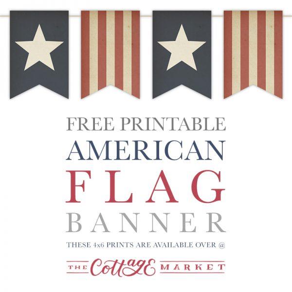 Free Printable American Flag Banner