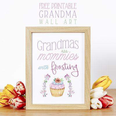 Free Printable Grandma Wall Art