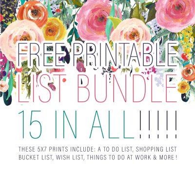 Free Printable List Bundle /// 15 In All!!!!