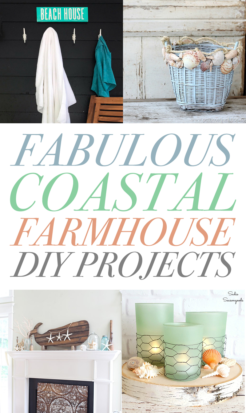 These DIY farmhouse projects are coastal and fun.