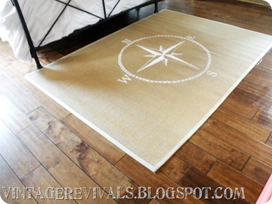 This rustic rug looks great with the wood stained floors.