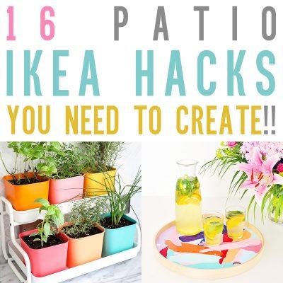 16 Patio IKEA Hacks You Need to Create