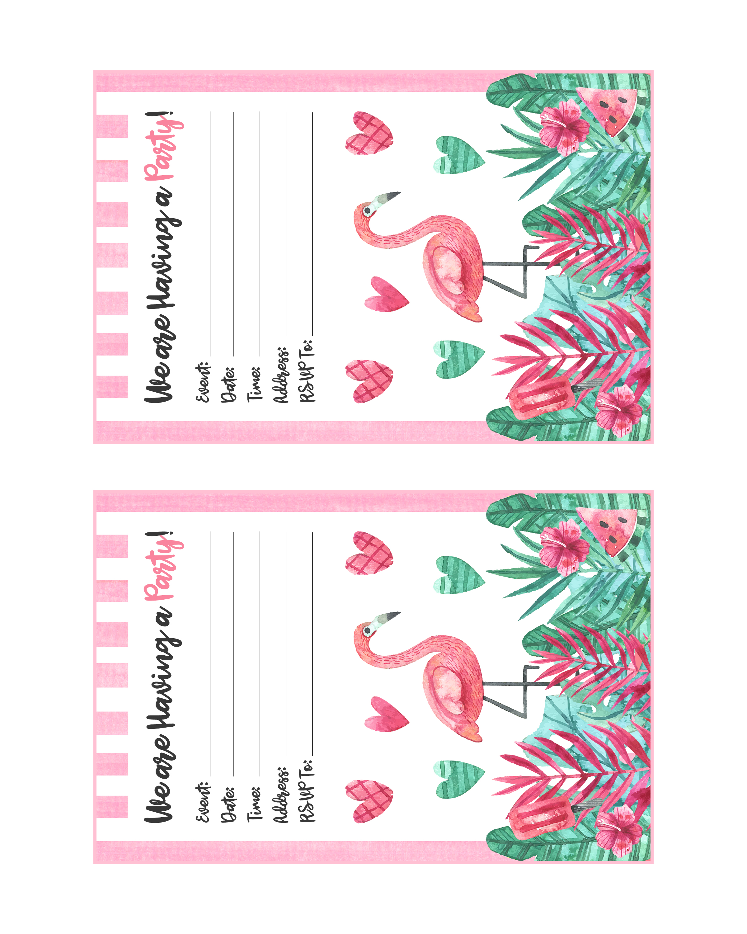 photograph relating to Printable Flamingo Template identify Cost-free Printable Flamingo Bash Pack - The Cottage Industry
