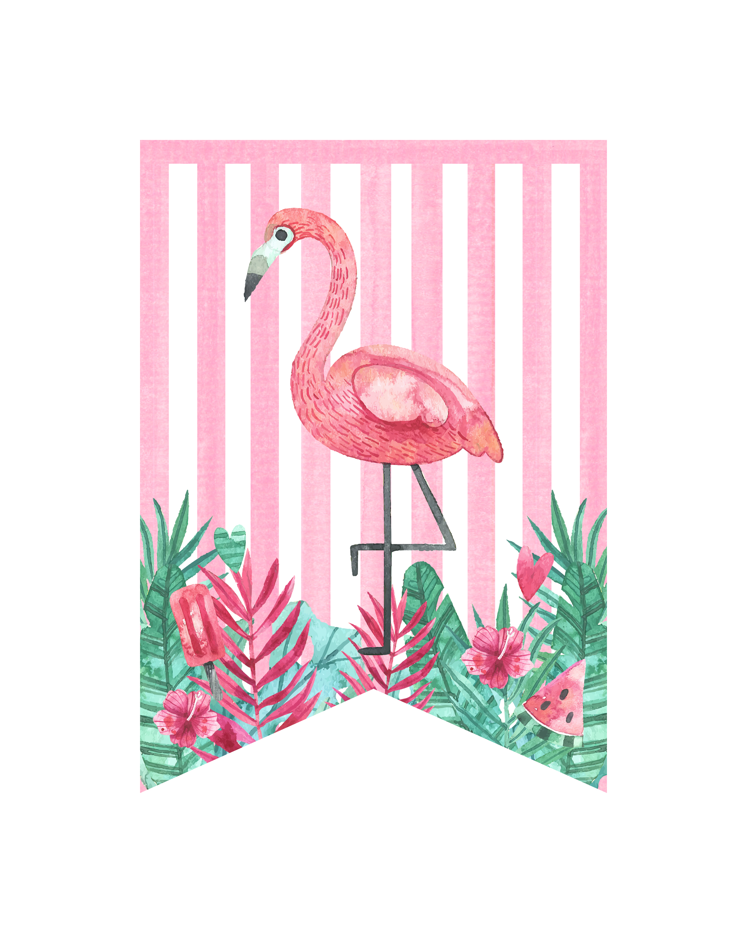 picture about Printable Flamingo Template called Cost-free Printable Flamingo Social gathering Pack - The Cottage Sector