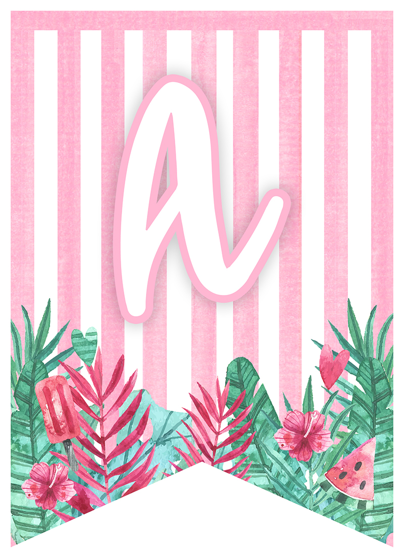 TCM-FlamingoSummer-PREVIEW-Letter-A  Inch Template For Letters on letter stencil, binder insert, free printable round label, honeycomb acrylic, circle sticker, square button, collage sheet, binder label,
