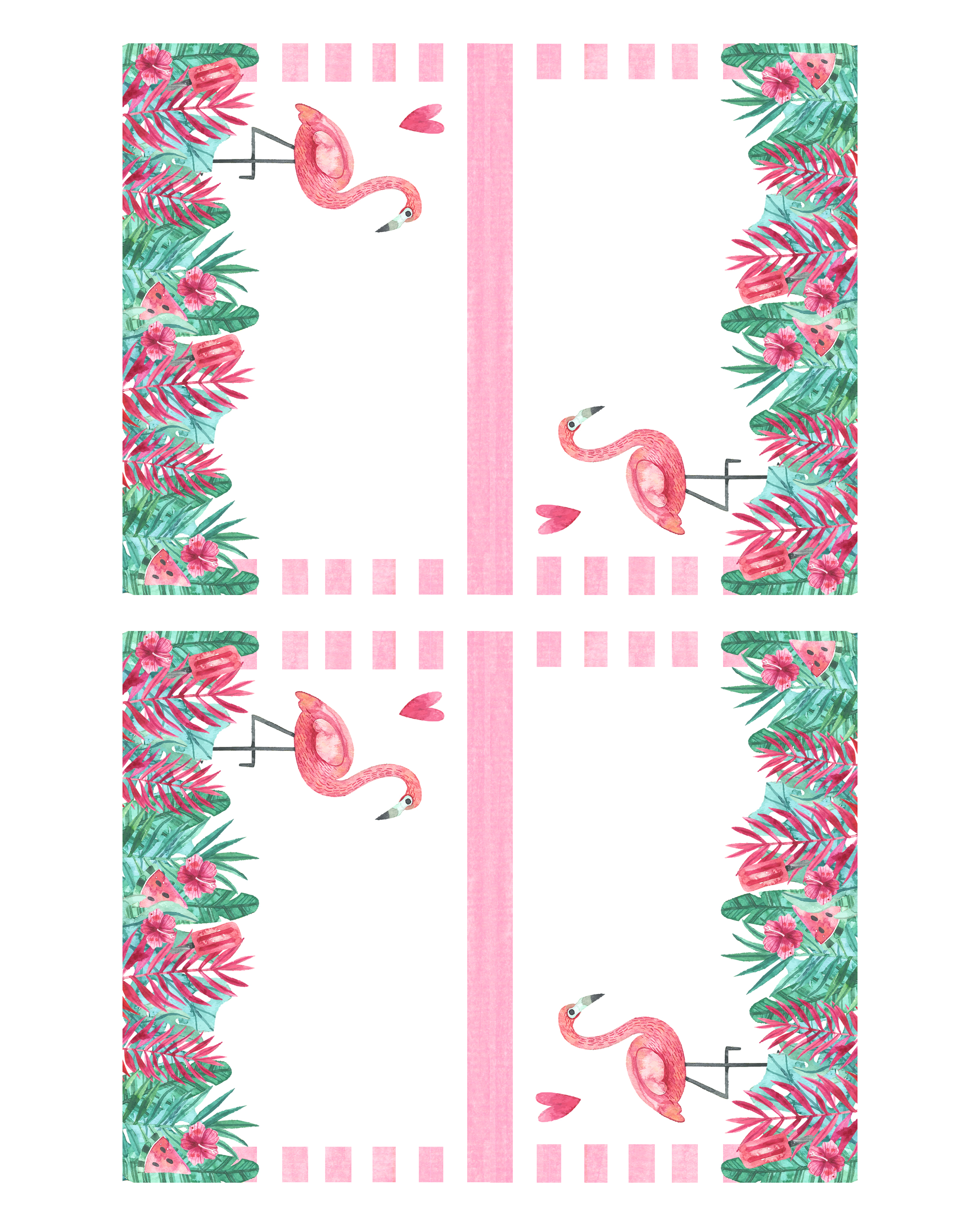 image about Printable Flamingo Template named No cost Printable Flamingo Social gathering Pack - The Cottage Industry
