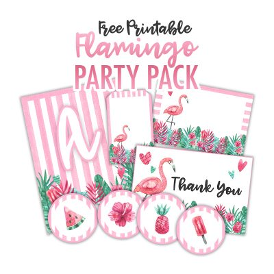 Free Printable Flamingo Party Pack