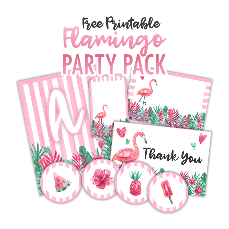 photograph relating to Thanks for Popping by Free Printable identified as Free of charge Printable Flamingo Social gathering Pack - The Cottage Sector