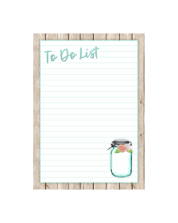 To Do List Shopping Recipe Card