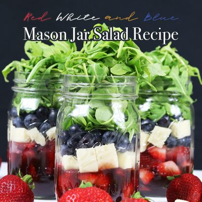 Red White and Blue Mason Jar Salad Recipe
