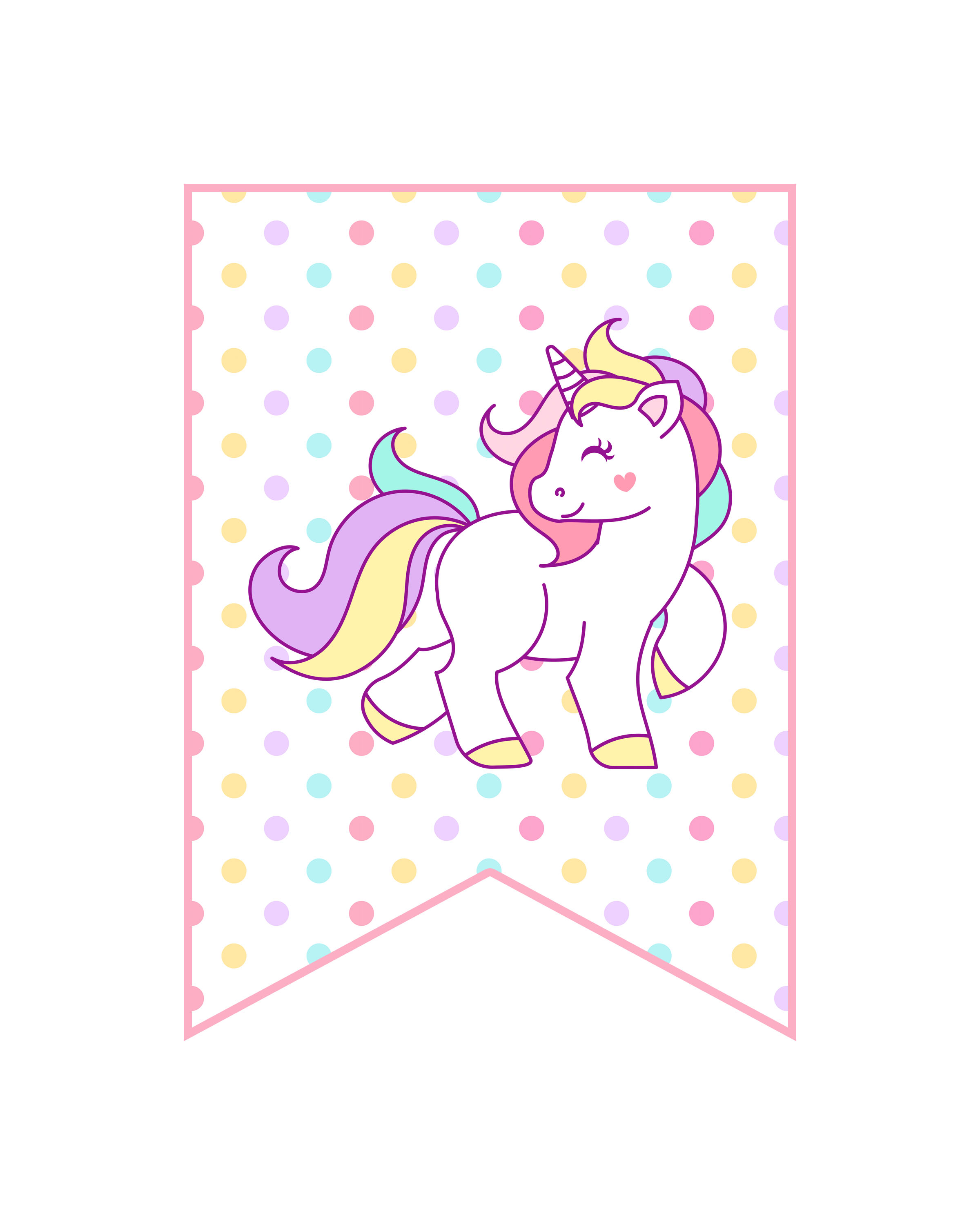 Simplicity image with printable unicorn template
