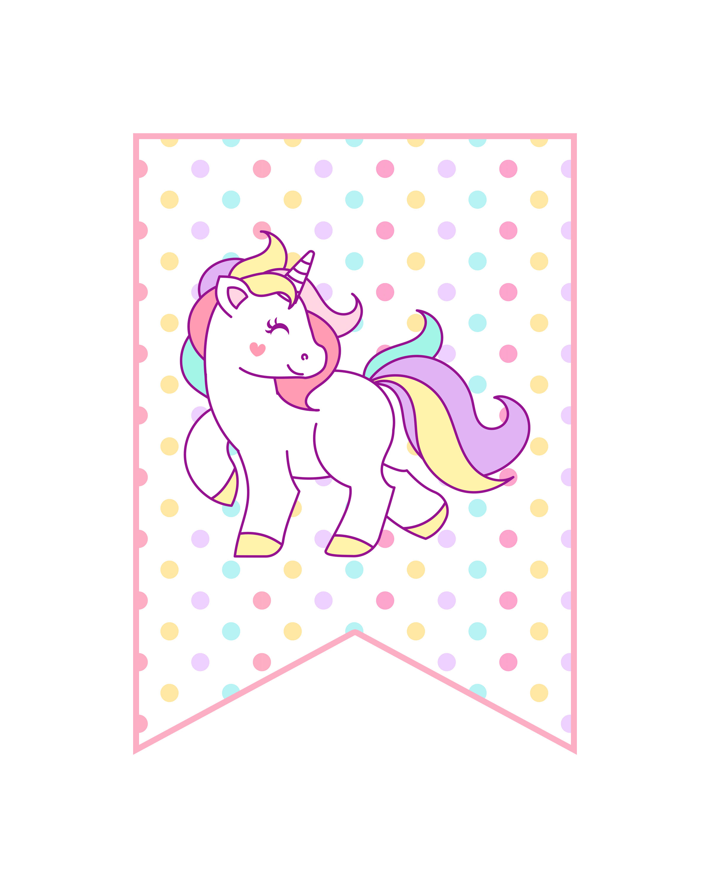 picture regarding Free Printable Unicorn Pictures identified as Totally free Printable Unicorn Occasion Decorations Pack - The Cottage