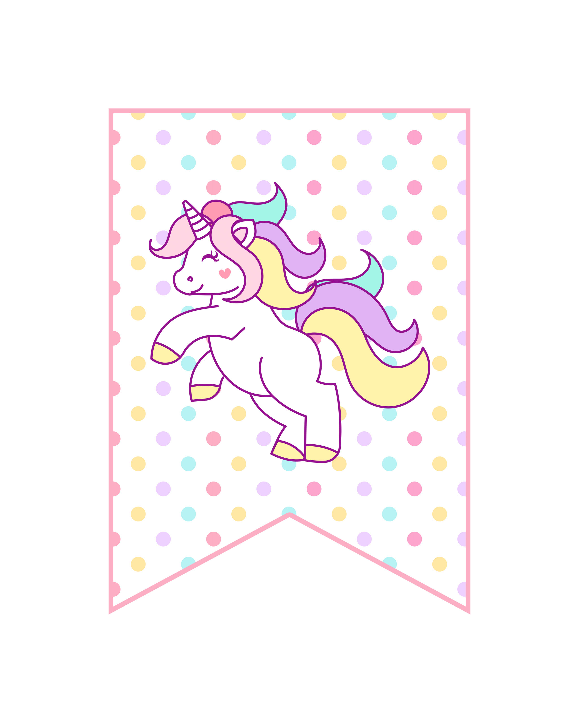 graphic relating to Free Printable Unicorn known as Free of charge Printable Unicorn Get together Decorations Pack - The Cottage