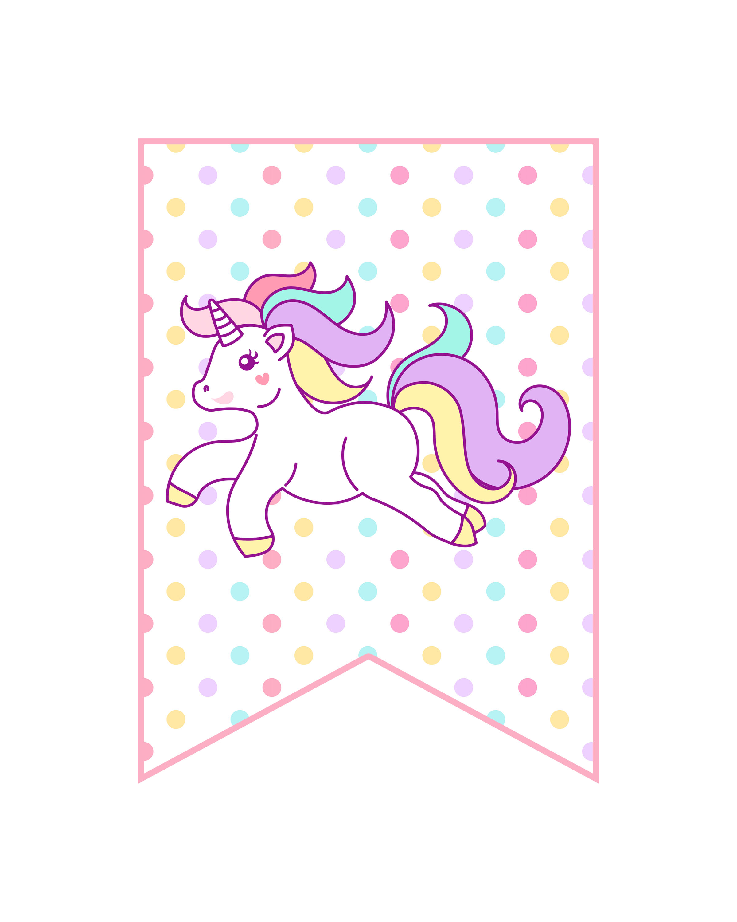 image about Free Unicorn Printable named No cost Printable Unicorn Social gathering Decorations Pack - The Cottage