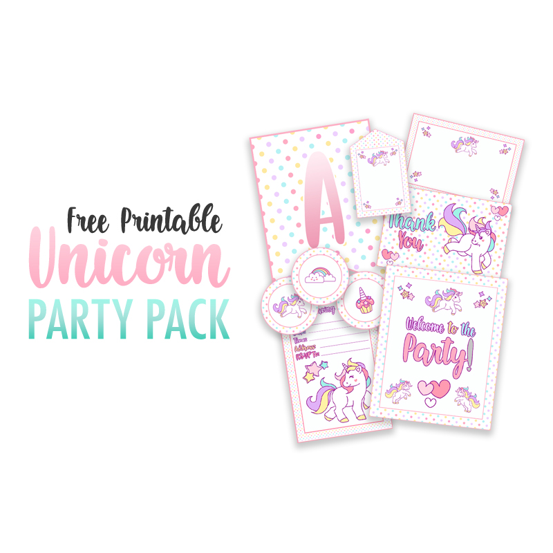 picture regarding Free Unicorn Printable referred to as Free of charge Printable Unicorn Social gathering Decorations Pack - The Cottage