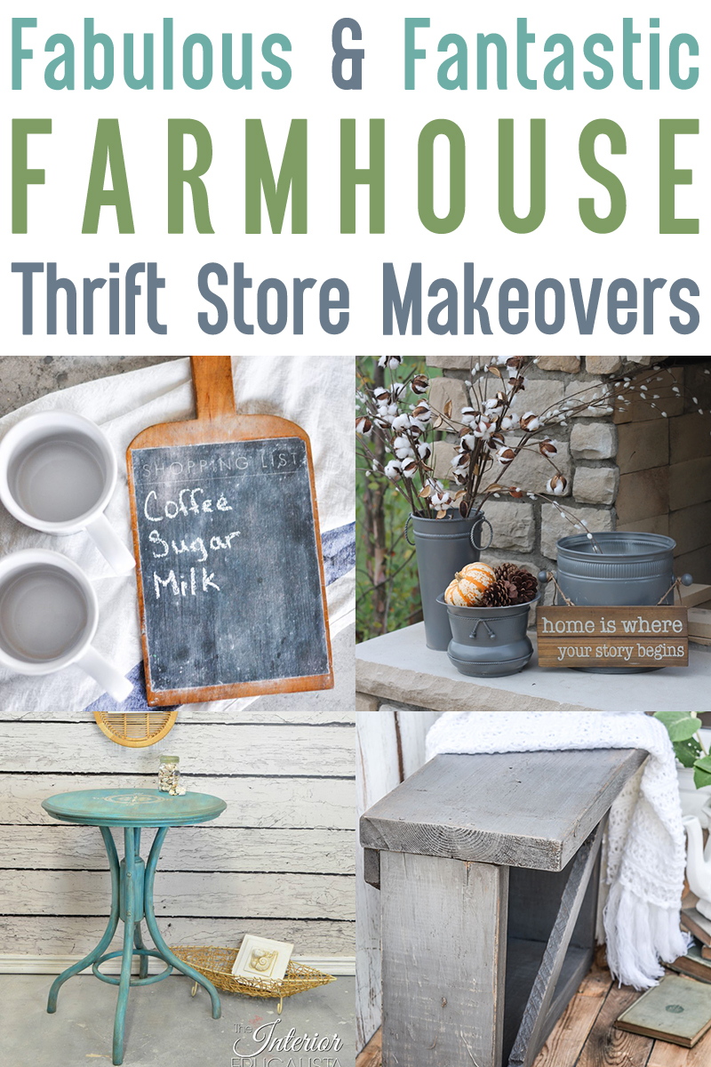 Farmhouse Thrift Store Projects & Makeovers - a Thrift Store Makeover Collection from The Cottage Market