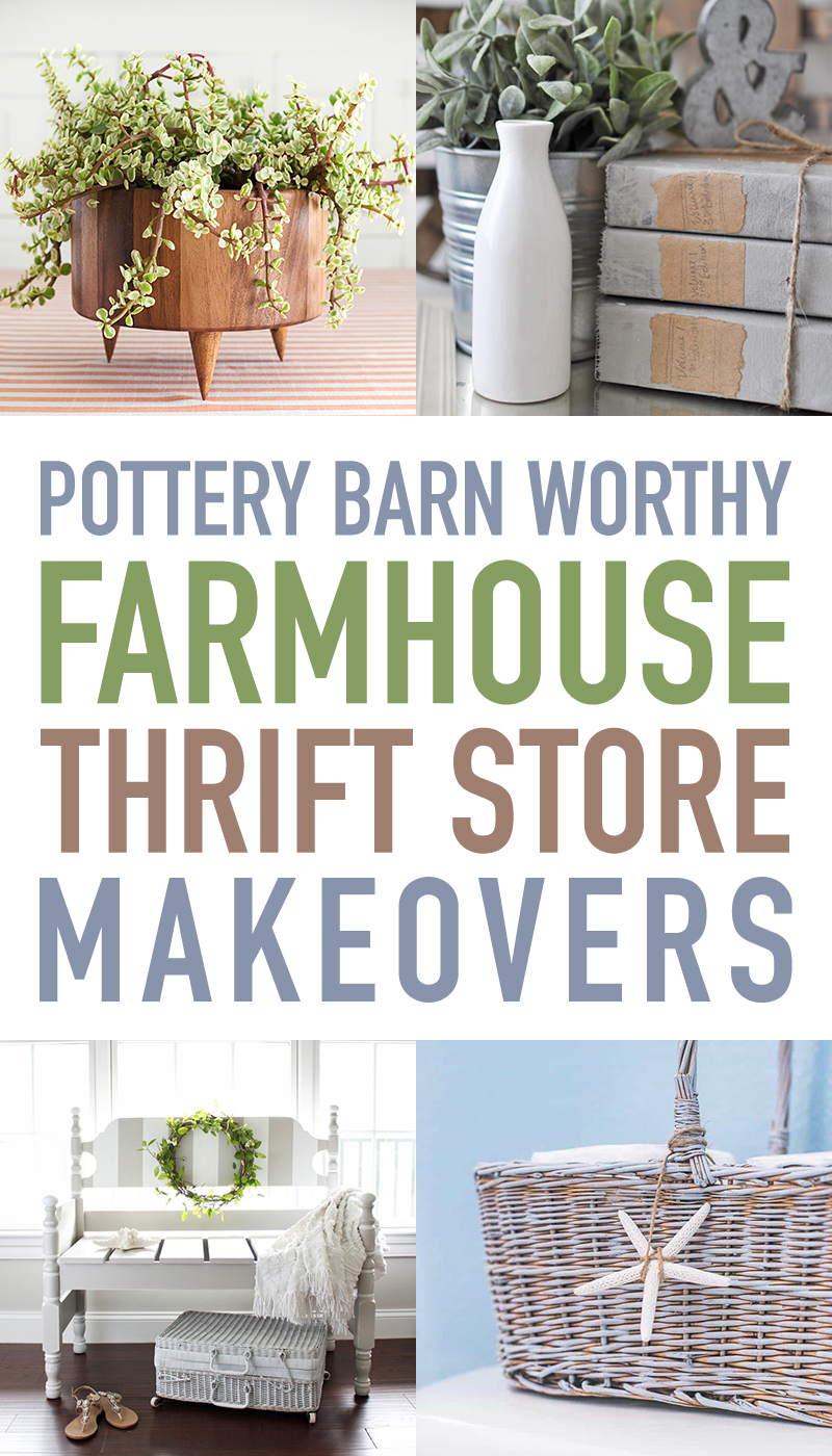 Use these thrift store makeover ideas to get the Pottery Barn look on a budget.