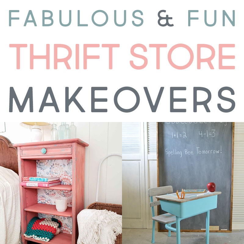 These fun thrift store makeovers are awesome.