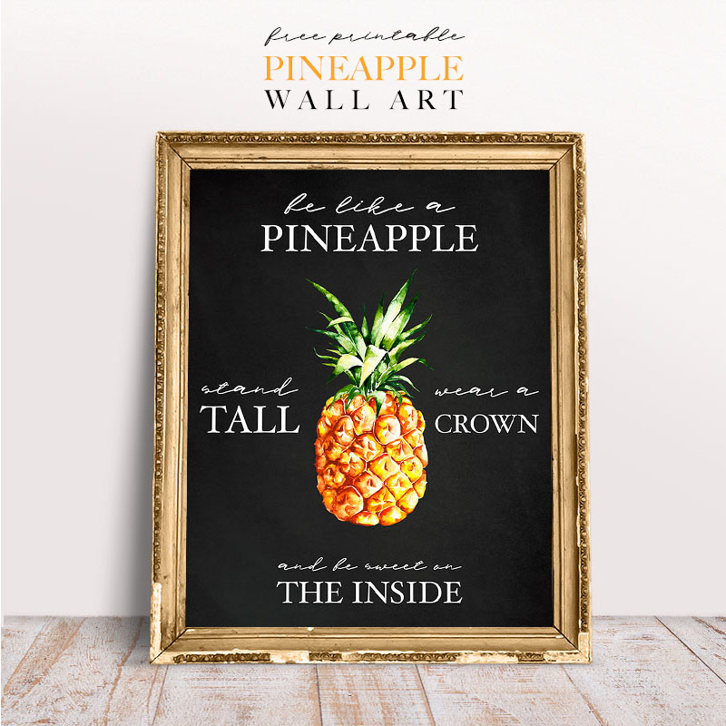 picture regarding Free Printable Pineapple identify Absolutely free Printable Pineapple Wall Artwork - The Cottage Current market