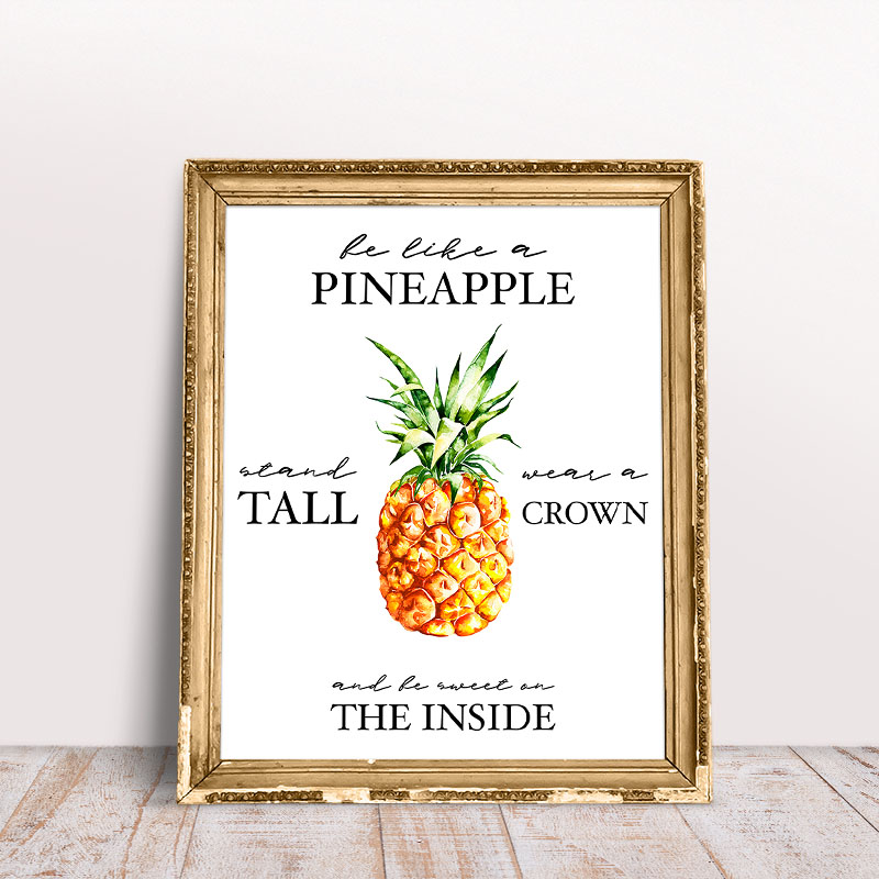 picture relating to Free Printable Pineapple known as Free of charge Printable Pineapple Wall Artwork - The Cottage Industry