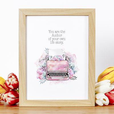 Free Printable Typewriter Inspirational Quote Wall Art