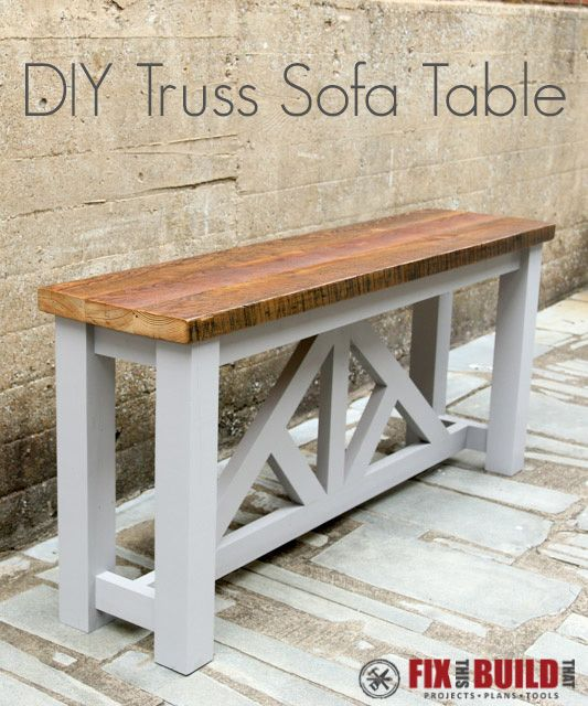 Diy Farmhouse Sofa Tables That Won T Break The Budget The