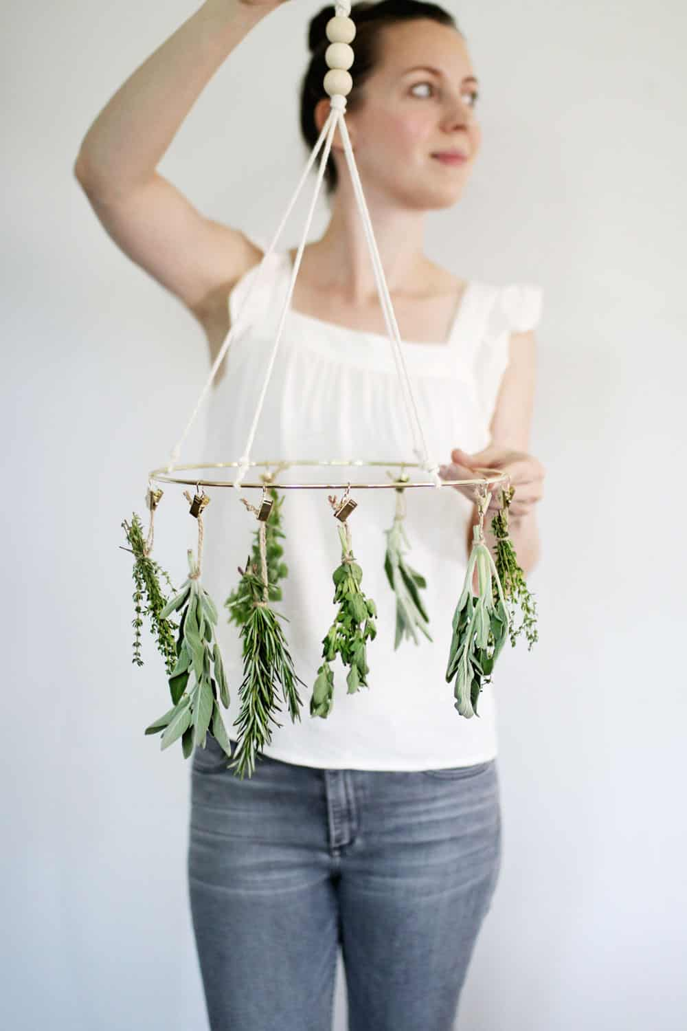 This simple DIY herb drying rack is fun and creative