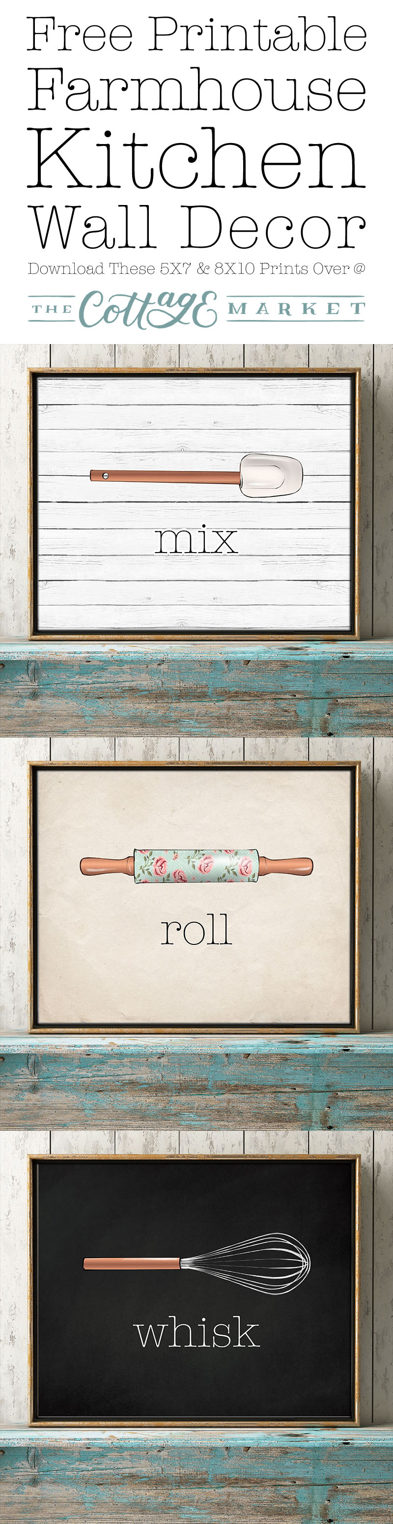 These free kitchen printables make great wall decor pieces.