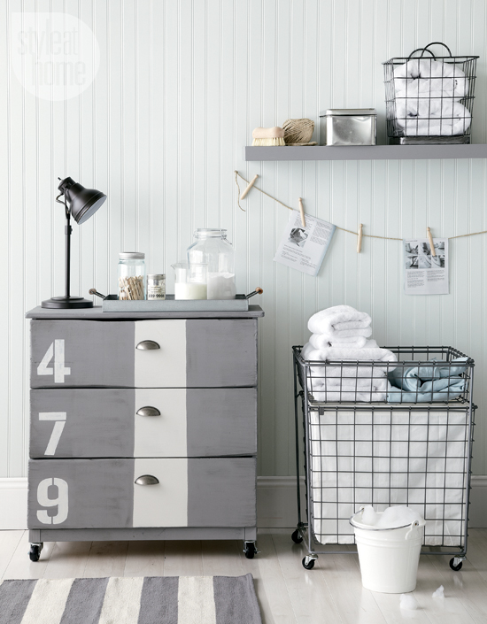 This bathroom vanity used to be a plain old tarva dresser