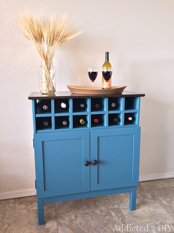 This DIY transformation made this Tarva IKEA dresser into a wine cabinet