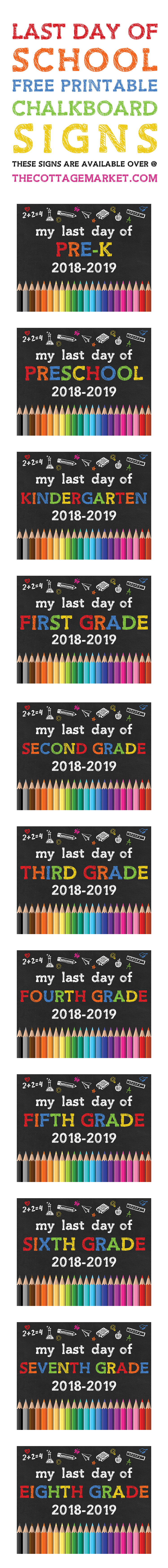 picture relating to Free Printable Chalkboard Signs named Free of charge PRINTABLE Again Towards Faculty CHALKBOARD Symptoms /// 2018-2019