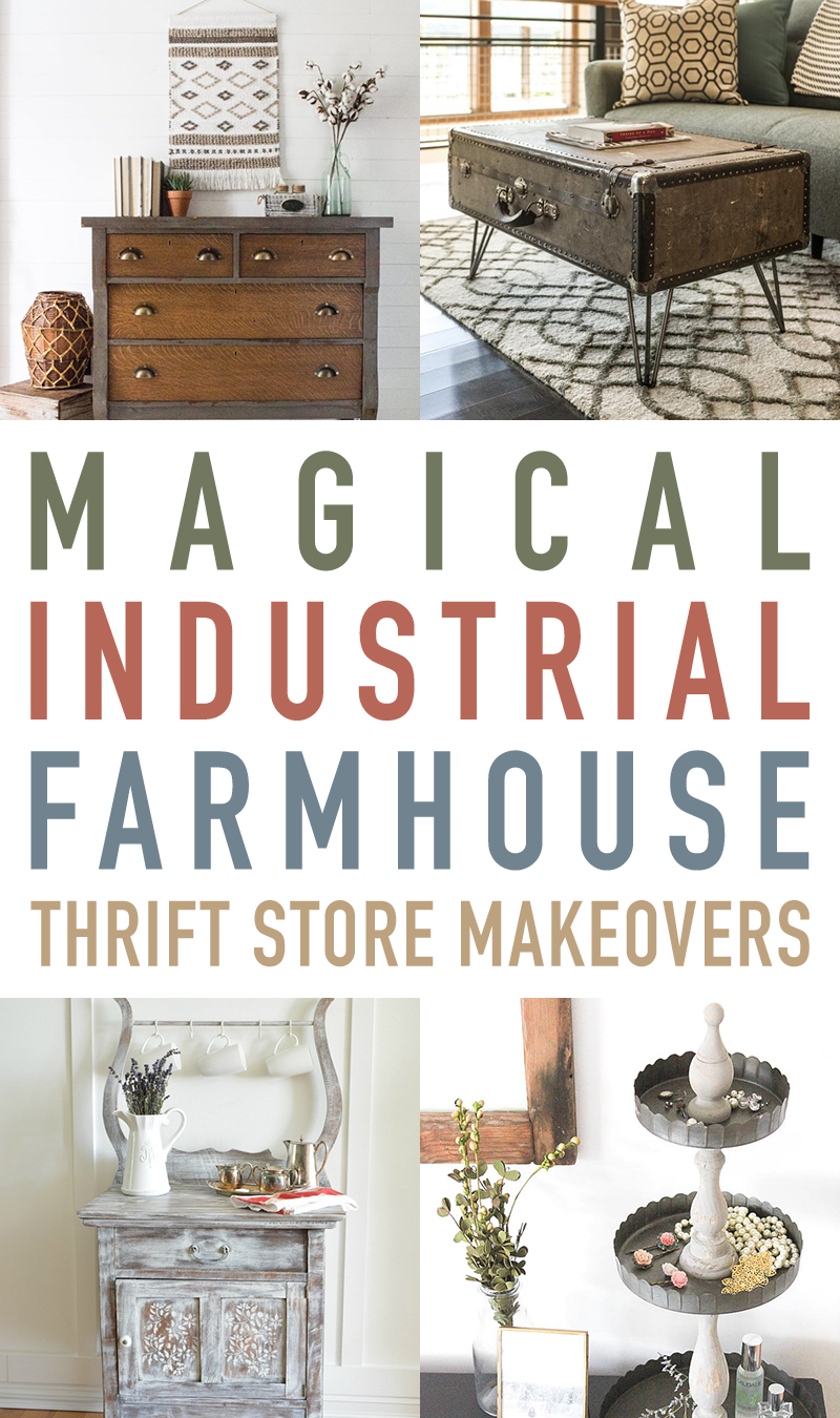 Magical Industrial Style Thrift Store Makeovers