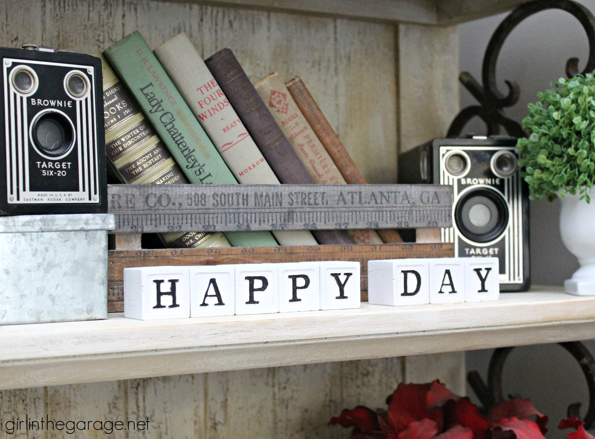 baby blocks aren't just for babies - with a fresh coat of paint, these letter blocks make a farmhouse style sign