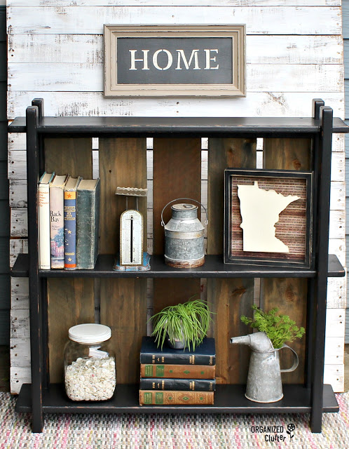 This old thrift store shelf was turned into an amazing display box for some special items