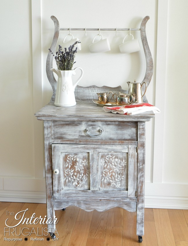 This cute side table has a new life with some new paint - a stunning transformation