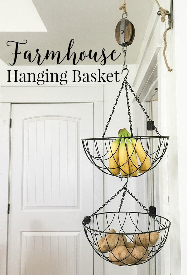 These planter baskets make great hanging fruit baskets