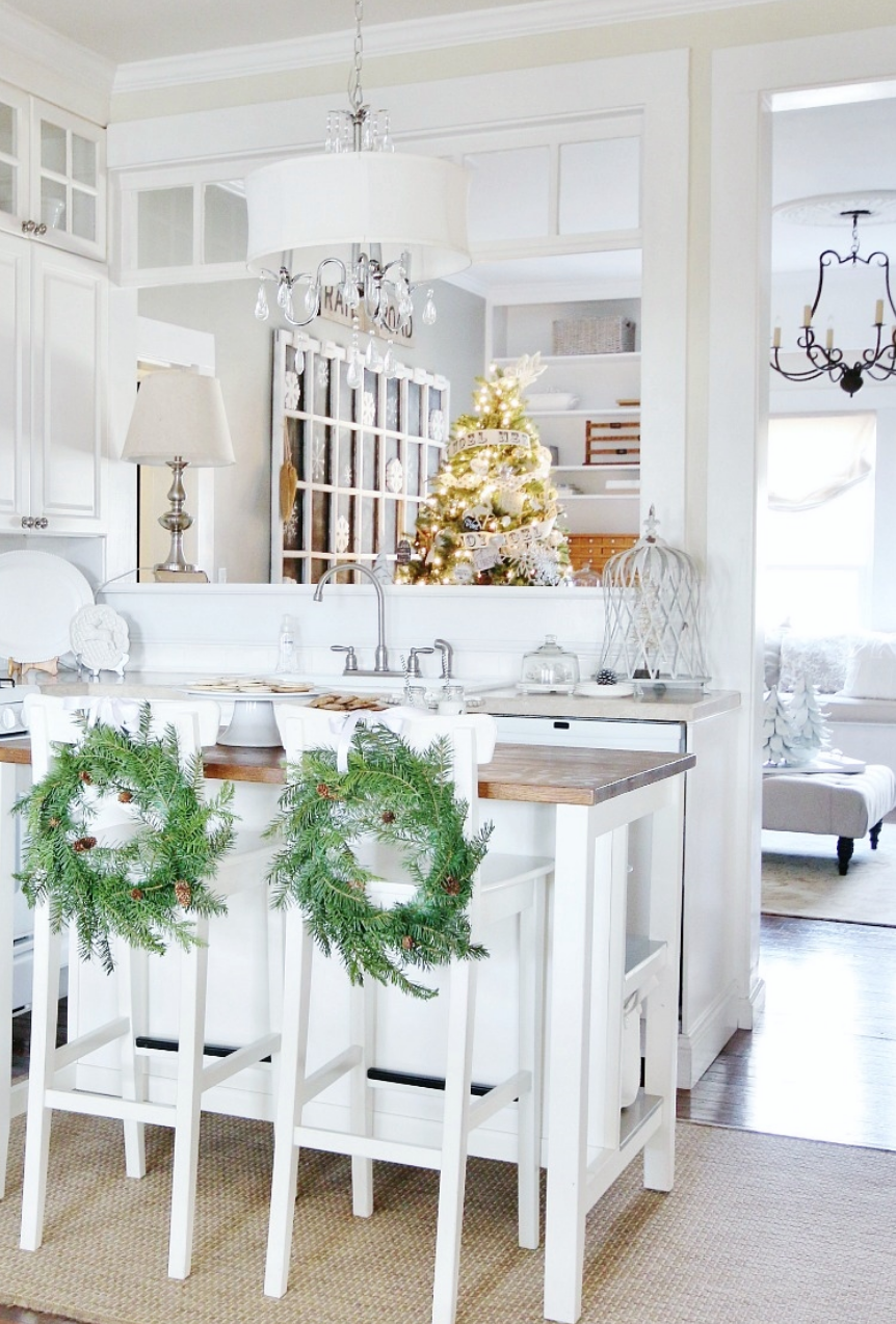 kitchen design ideas perfect decoration | Farmhouse Kitchen Decorating Ideas Perfect For Christmas ...