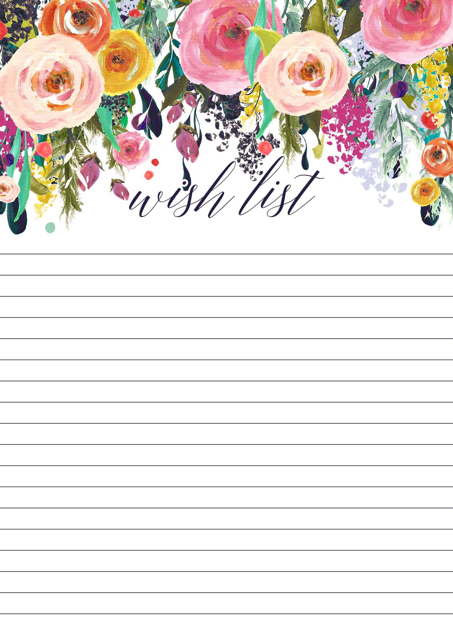 This free printable thrift store wish list is a great place to start jotting down ideas of what you'd like to find
